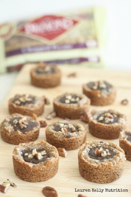 Salted Caramel and Chocolate Pecan Tarts - Lauren Kelly Nutrition
