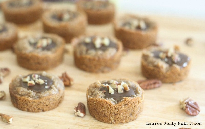 Salted Caramel & Chocolate Pecan Tarts - Lauren Kelly Nutrition