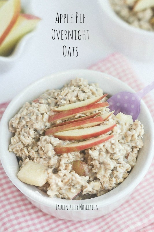 Apple Pie Overnight Oats | Lauren Kelly Nutrition