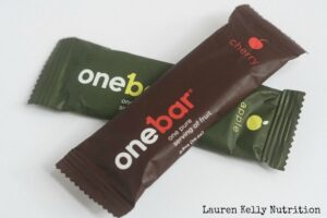 OneBar equals one serving of fruit