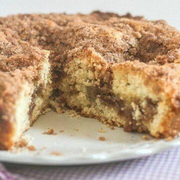 Cinnamon Coffee Cake from The Greek Yogurt Cookbook ~ Lauren Kelly Nutrition