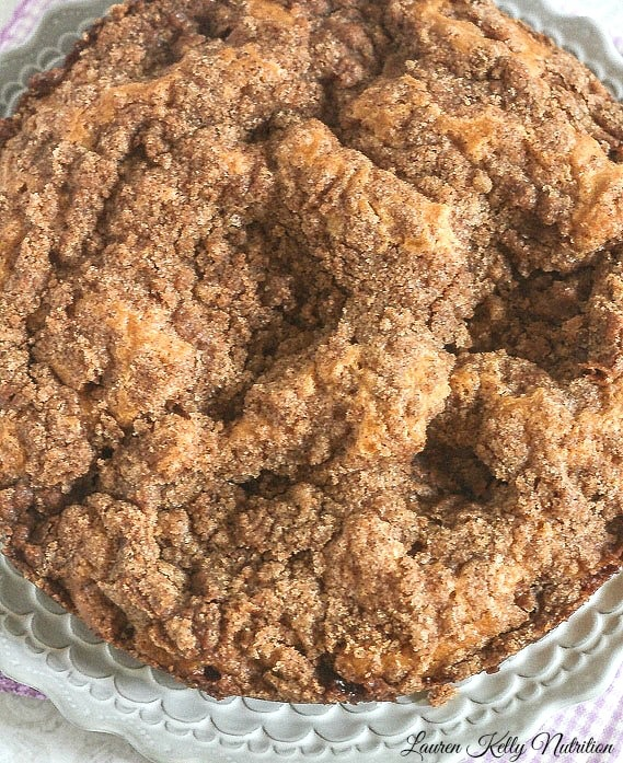 Cinnamon Coffee Cake from The Greek Yogurt Cookbook ~ Lauren Kelly Nutrition