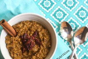 Pumpkin Rice Pudding from Lauren Kelly Nutrition #vegan #glutenfree #wholegrain