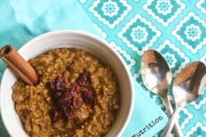 Pumpkin Rice Pudding from Lauren Kelly Nutrition #vegan #glutenfree #wholegrain