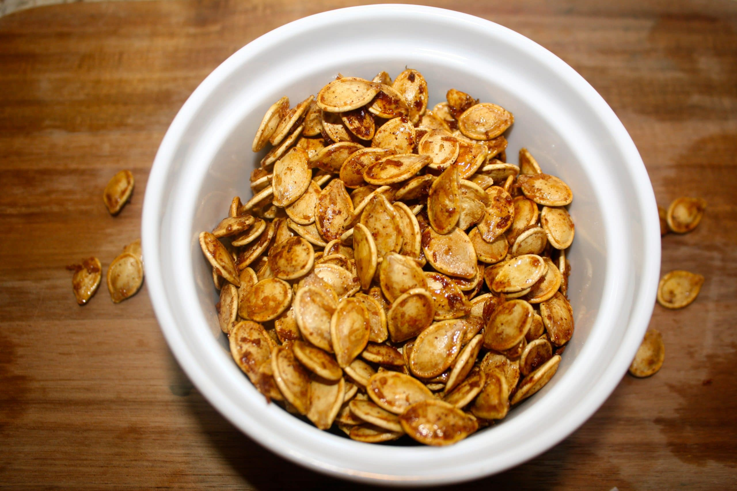 These Coconut Maple Roasted Pumpkin Seeds are easy to make, healthy and delicious!