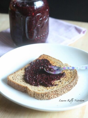 Blueberry Pomegranate Chia Seed Jam