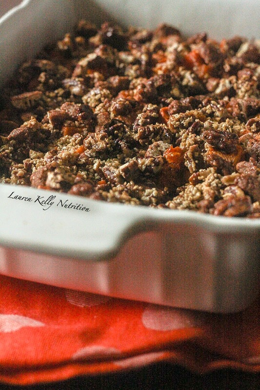 Maple Sweet Potato Casserole is vegan and has no unrefined sugars! It ...