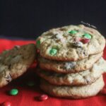 Christmas Chocolate Chip Cookies {Healthy, Whole Wheat}