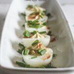 These Deviled Eggs are lightened up with Siggi's yogurt and are still the most popular appetizer at any party! @siggisdairy
