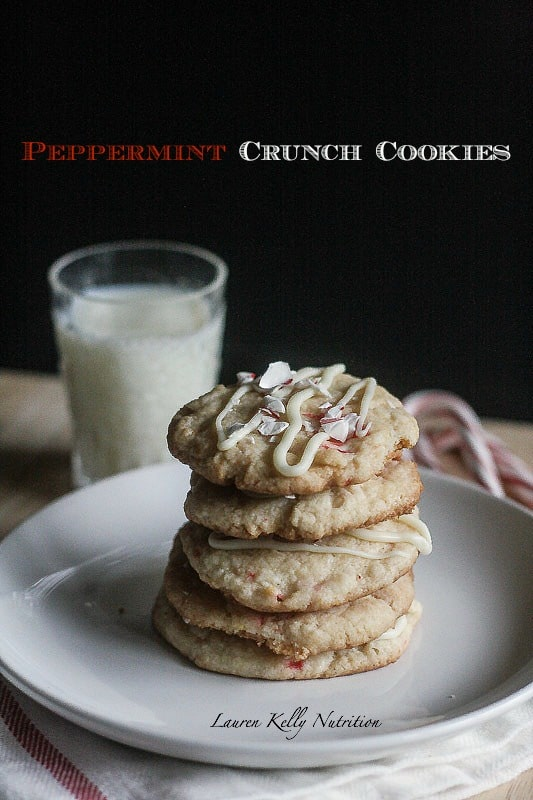 These Peppermint Crunch Cookie are healthier than your typical cookies but still taste amazing!