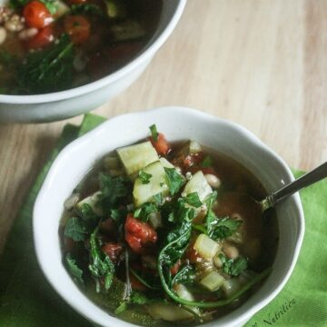 This Quinoa Vegetable Soup is hearty, vegan and delicious!