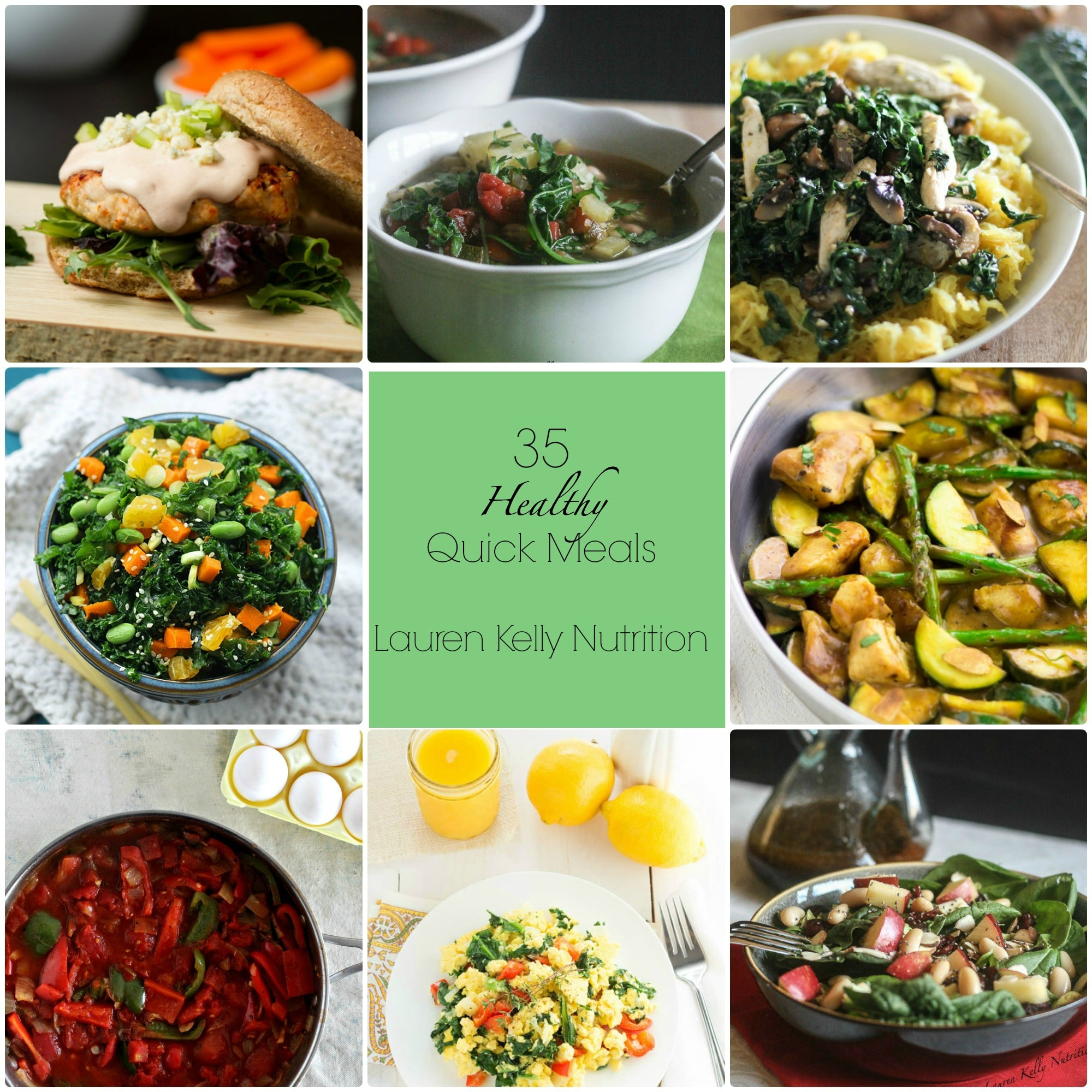35 Healthy Quick Meals from Lauren Kelly Nutrition