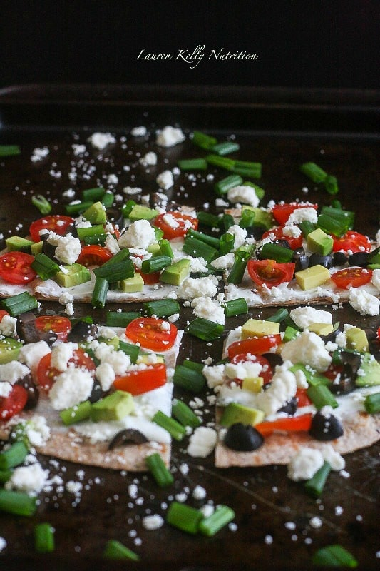 Greek Vegetable Pizza made with #GreekYogurt Tzatziki Dip make the perfect, healthy appetizer!