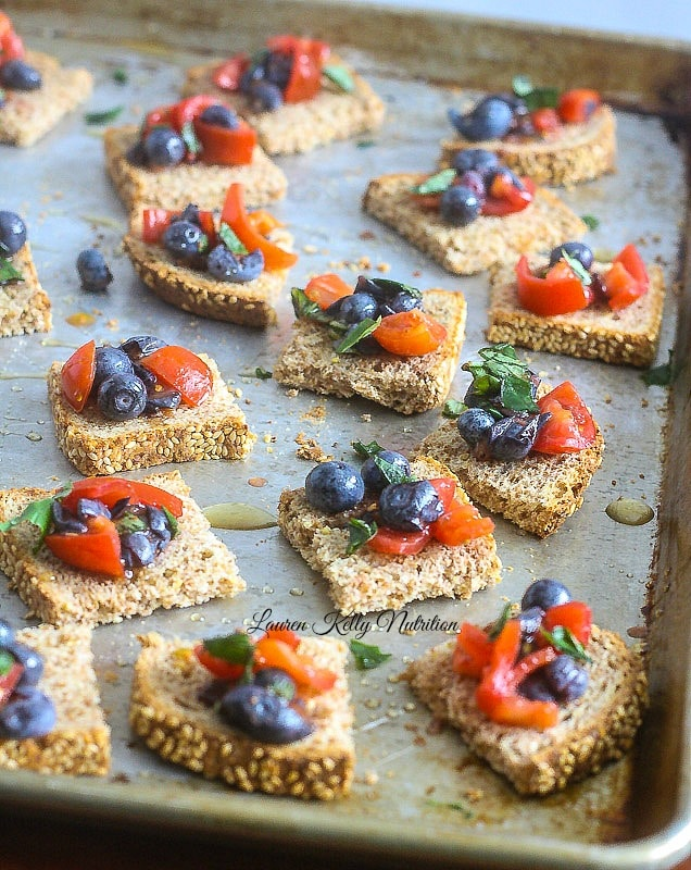 Blueberry Bruschetta from Superfoods at Every Meal