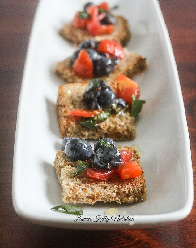 Blueberry Bruschetta from Super foods at Every Meal