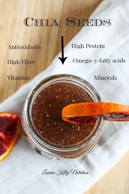 Blood Orange Green Tea Chia Energy Drink Vegan Dairy
