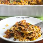 This Mexican Quinoa Lasagna is the perfect, healthy weeknight meal! From Lauren Kelly Nutrition #glutenfree