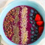 Blueberry Mango Smoothie Bowl {Vegan, Gluten Free, Dairy Free}