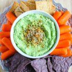 High Protein Edamame Hummus {Gluten-Free, Dairy-Free}