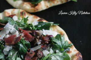 Kale Bacon Manchego Pizza