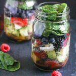 Mixed Berry Chopped Mason Jar Salad {Quick and Easy, Make Ahead}