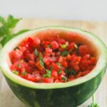 Watermelon Mint Salsa {Vegan, Easy, Healthy}