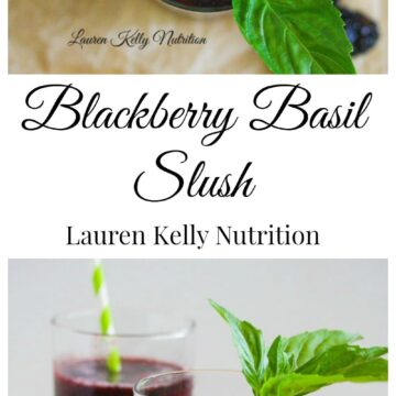 This Blackberry Basil Slush is the perfect, healthy way to cool you off this summer! #sugarefree #vegan