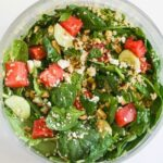 Watermelon Feta Salad with Mint Balsamic Dressing & a Peapod.com GIVEAWAY!