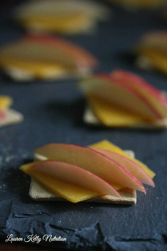Apple Cheddar Crackers and After School Snack Ideas from Lauren Kelly Nutrition