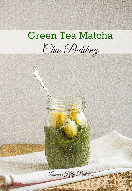 Green Tea Matcha Chia Pudding Parfaits from Lauren Kelly Nutrition #vegan