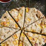 Peaches and Cream Whole Wheat Scones