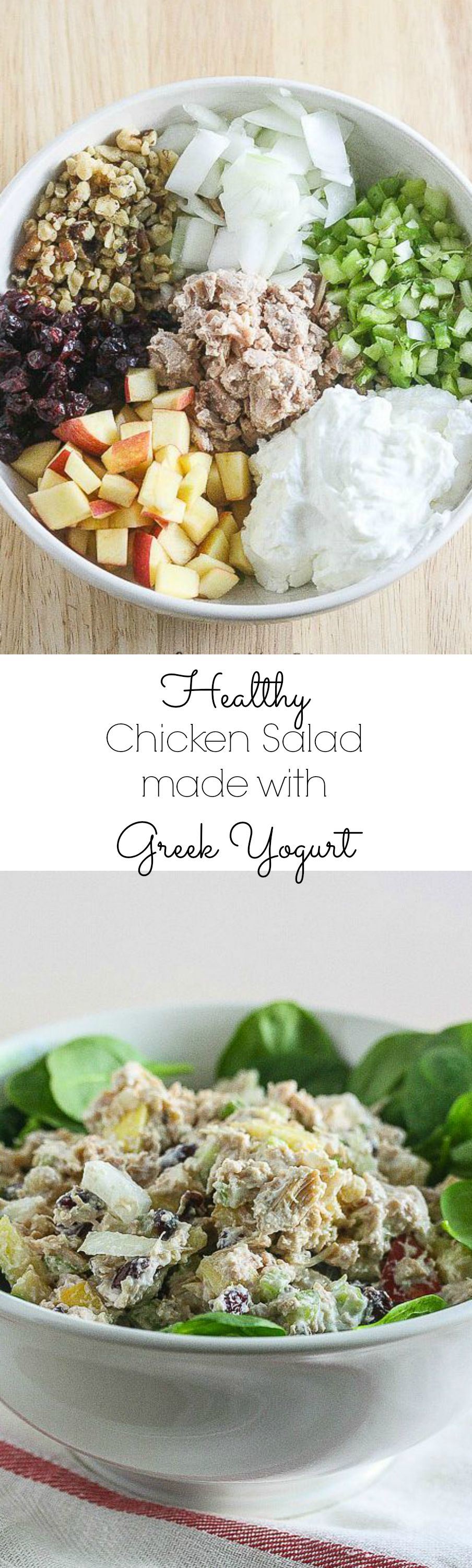 Healthy Chicken Salad made with Greek Yogurt @PacificFoods #NourishEveryBody