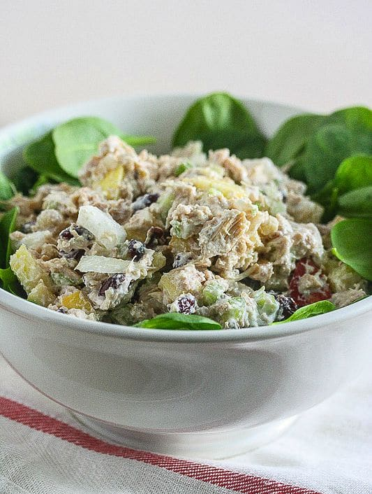 Healthy Chicken Salad made with Greek yogurt!