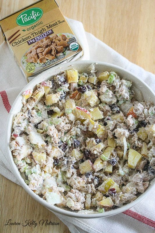 Healthy Chicken Salad made with Greek Yogurt @PacificFoods
