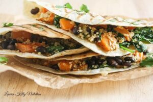 Butternut Squash Black Bean and Quinoa Quesadillas {Vegan, Healthy Easy}