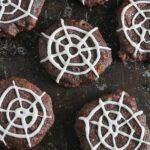 These Chocolate Spiderweb Cookies are healthier and so much fun! Lauren Kelly Nutrition