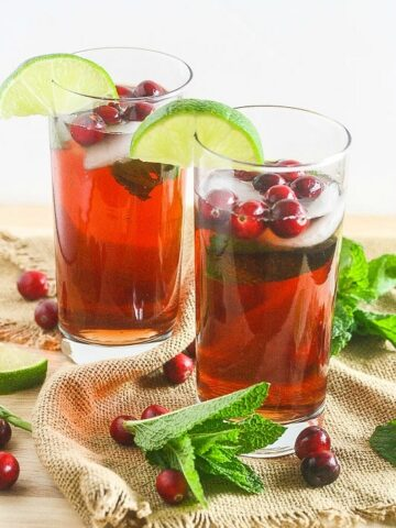 These Cranberry Mojitos are fun, festive and perfect all year long! Sugar Free Option too