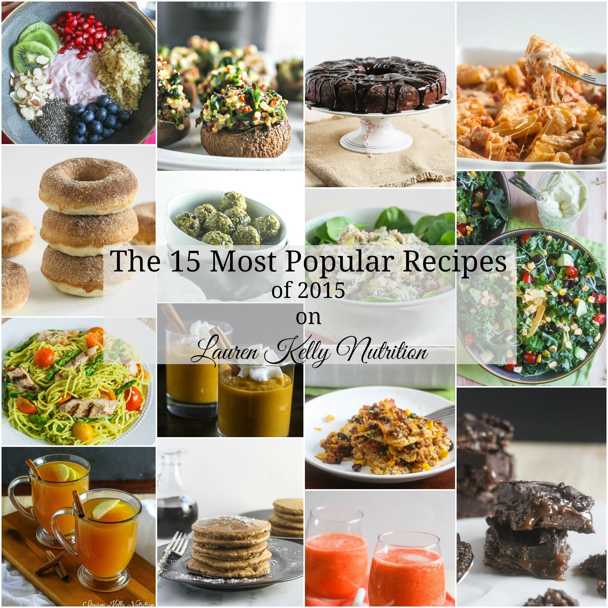 The 15 Most Popular Recipes from Lauren Kelly Nutrition in 2015