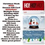 Amazon Gift Card Giveaway #ChristmasWeek