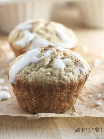 These Eggnog Muffins are festive and delicious, but are made healthier with whole wheat flour and Greek yogurt!