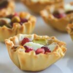 Pomegranate Brie Pistachio Phyllo Cups {4 Ingredients, Ready in 15 minutes}