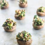 Quinoa Spinach Stuffed Mushrooms {Gluten-Free, Easy, Vegetarian}