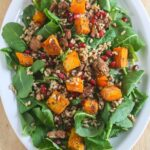 Winter Kale Salad with Butternut Squash and Farro {Vegan}