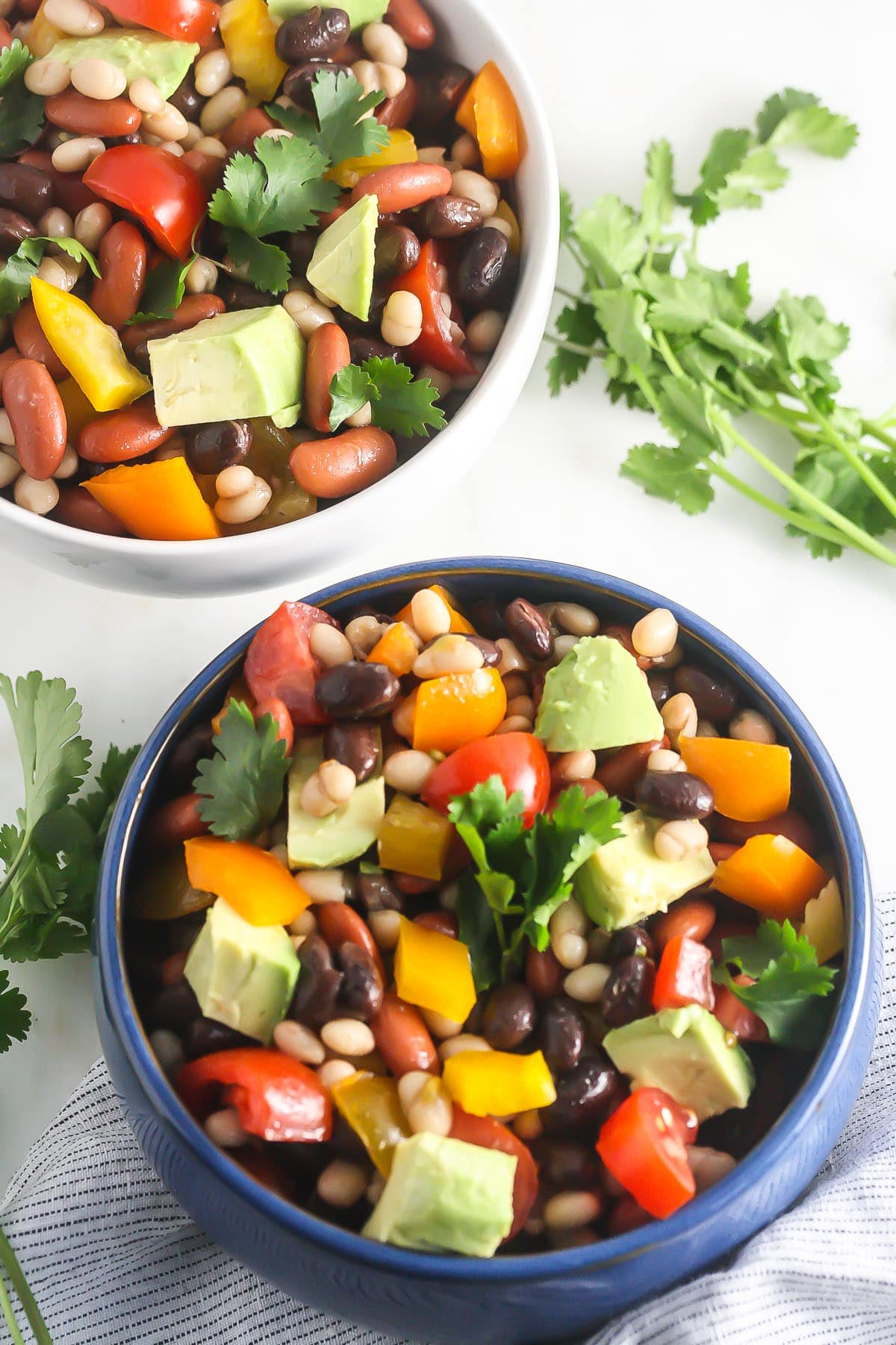 Mexican Bean Salad Vegan Gluten Free Grain All Veggie Vegetarian This Is Packed With Plant Based Protein And Fiber Naturally