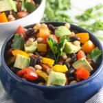 This Mexican Bean Salad is packed with plant-based protein and fiber and is naturally gluten and grain-free! www.laurenkellynutrition.com