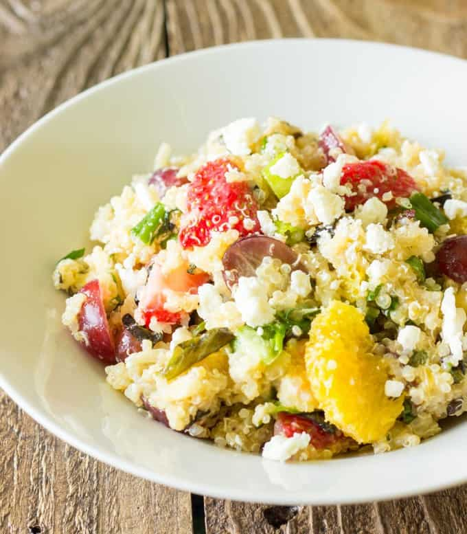 Fruity Quinoa Salad from The Wholesome Dish