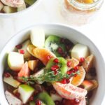 Winter Fruit Salad with Ginger Chia Dressing {Vegan, Gluten-Free, Easy}