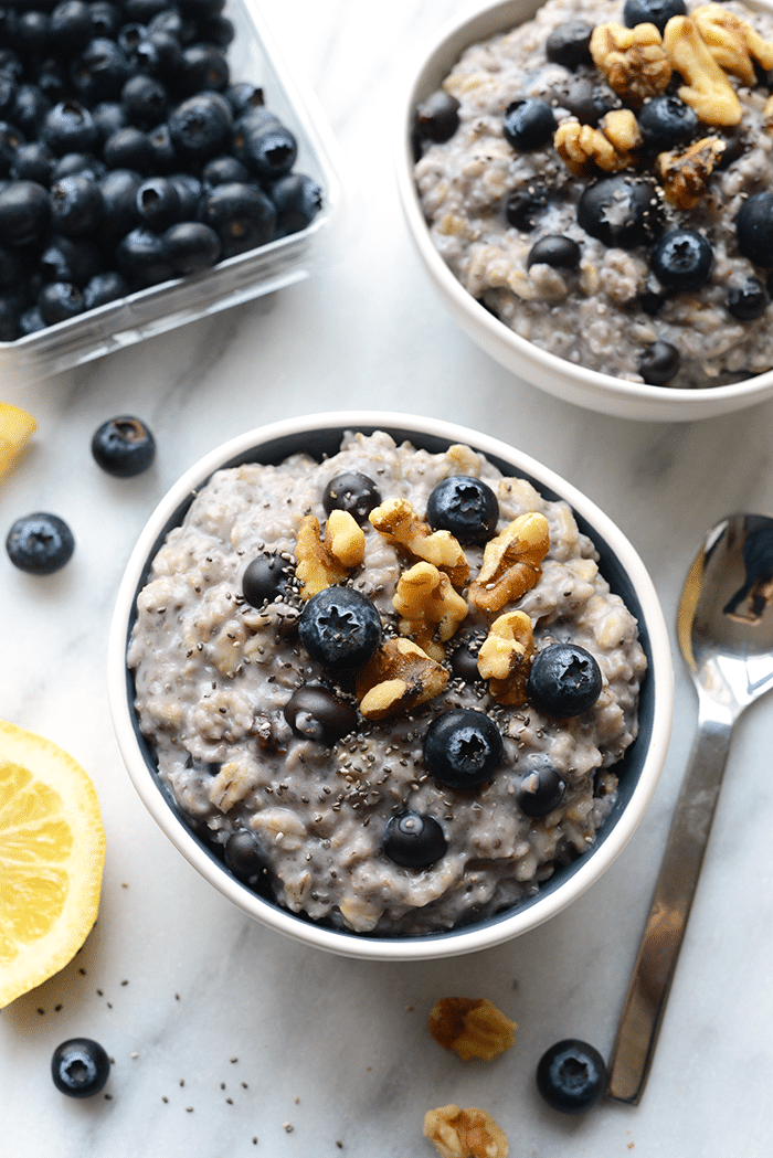 Blueberry Chia Oatmeal from fit Foodie Finds