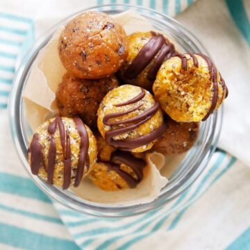 These Apricot Power Bites from Lexi's Clean Kitchen are healthy and guilt-free! They are Gluten-Free, Grain-Free, Dairy-Free, Paleo-Friendly and Nut-Free.
