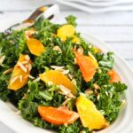 Kale & Orange Salad with Toasted Almonds {Vegetarian, Gluten-Free}